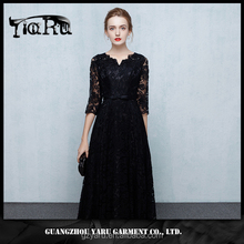 Womens half Sleeve hollow out Lace Dress Cocktail Party Ball Gown Evening Chic