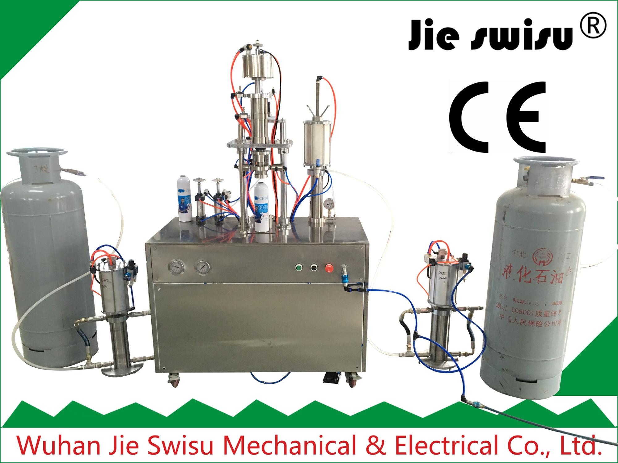 CJXH-1600D under cup refrigerant aerosol filling machine