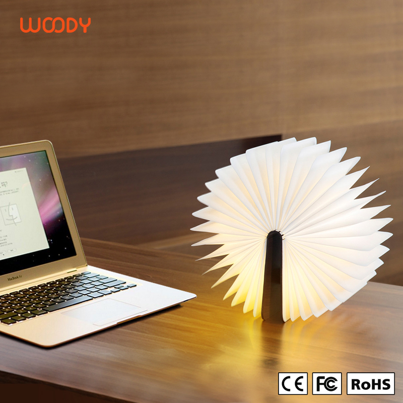 Woody Classical 360 Degree Foldable Openning Light LED Original Lumio Open Book Lamp