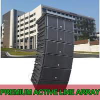 Outdoor sound reinforcement system professional active line array