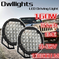 japanese car spare parts New 4x4 LED Car Light 8 Inch 160w Round LED Driving light for cars and Motorcycle