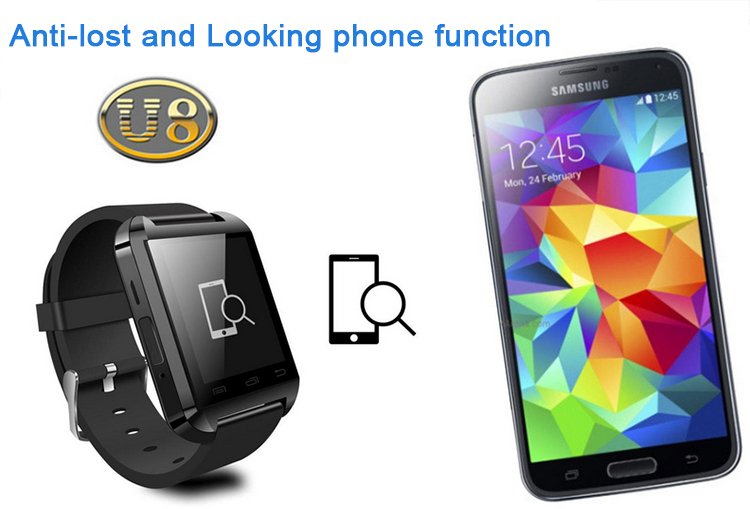2015 u80 bluetooth smart watch for kids with healthy care