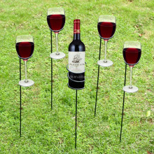 Outdoor picnic accessories iron chrome plate drink wine stakes