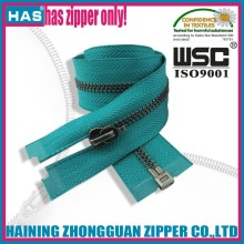 HAS zipper autohook zipper slider and puller bag/garment gun metal zippers for leather jackets