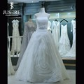 New Coming Strapless Ruched Bodice Ruffle Skirt Wedding Gown Models Sample Pictures