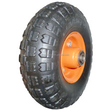 10 inch 4.1/3.50-4 heavy duty solid rubber wheel for hand trucks, tool carts