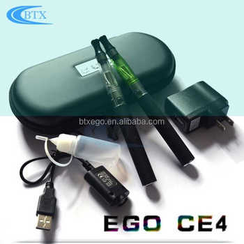 Free sample electronic cigarette 1.6ml atomizer ego battery 650/900/1100mah ego ce4 blister pack