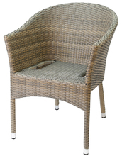 No Folded Outdoor Dinning Armrest Wicker patio furniture