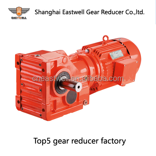 EWK series helical gear reducer K series helical gearmotor shaft-mounted gear reducer