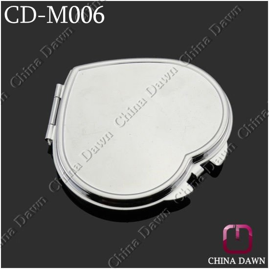 Gift Silver Plain Heart Mirror for Customized Design CD-M006