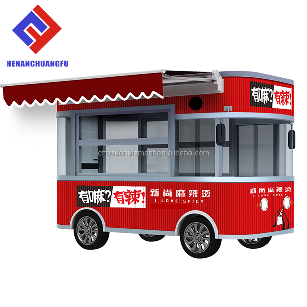 Electric mobile street food tricycle food kiosk cart for sale