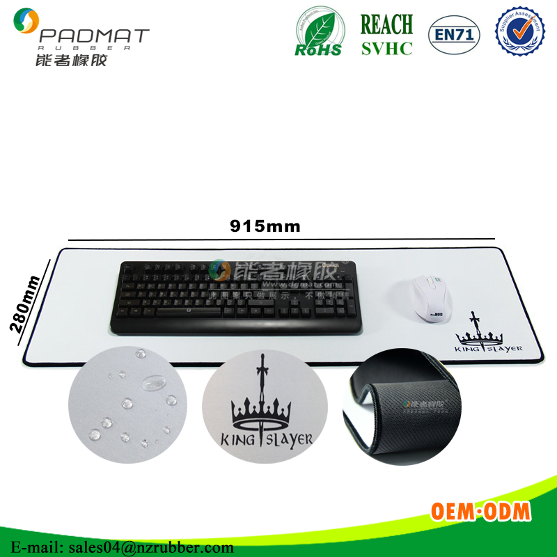 XXL custom printed waterproof desk keyboard mouse mat/Anti-slip rubber mouse pad for gaming
