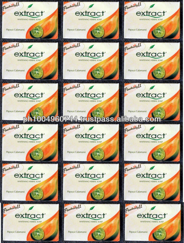 18 Extract Papaya Calamansi Whitening Herbal Soap 90g ea
