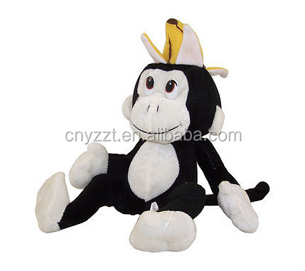 plush toy monkey with banana/plush monkey toys/stuffed monkey toy