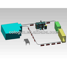 Electrostatic powder coating plants