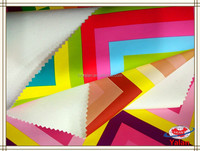 2015 popular colorful rainbow design foiled faux leather fabric for decorations