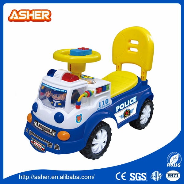 cartoon plastic pp boys electric drive toy police kids car for ride