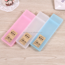 2017 Clear Transparent simple two-box hard plastic pencil case with cheap price for packing S025