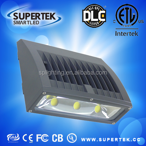 high lumen High quality DLC&ETL listed outdoor led wall pack lighting