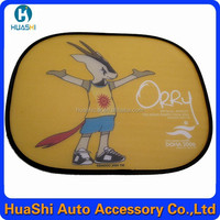Full color mesh cartoon car window shade car shades nylon car sun cover