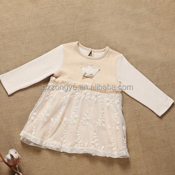 High grade baby clothes cotton kies girls winter dresses