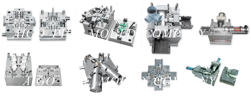 customize plastic pipe fitting injection mold, small joint mould