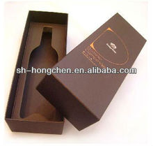 High Quality Customized Made-In-China Wooden Wine Box With 2 Cup And Single Bottle For Customer