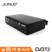 Factory supply DVB-T2 HD set top box MPEG4 AVCH.264 tv channel receiver USB2.0 host support upgrade