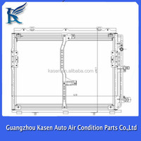 Parallel Flow Car AC Condenser for BENZ W140
