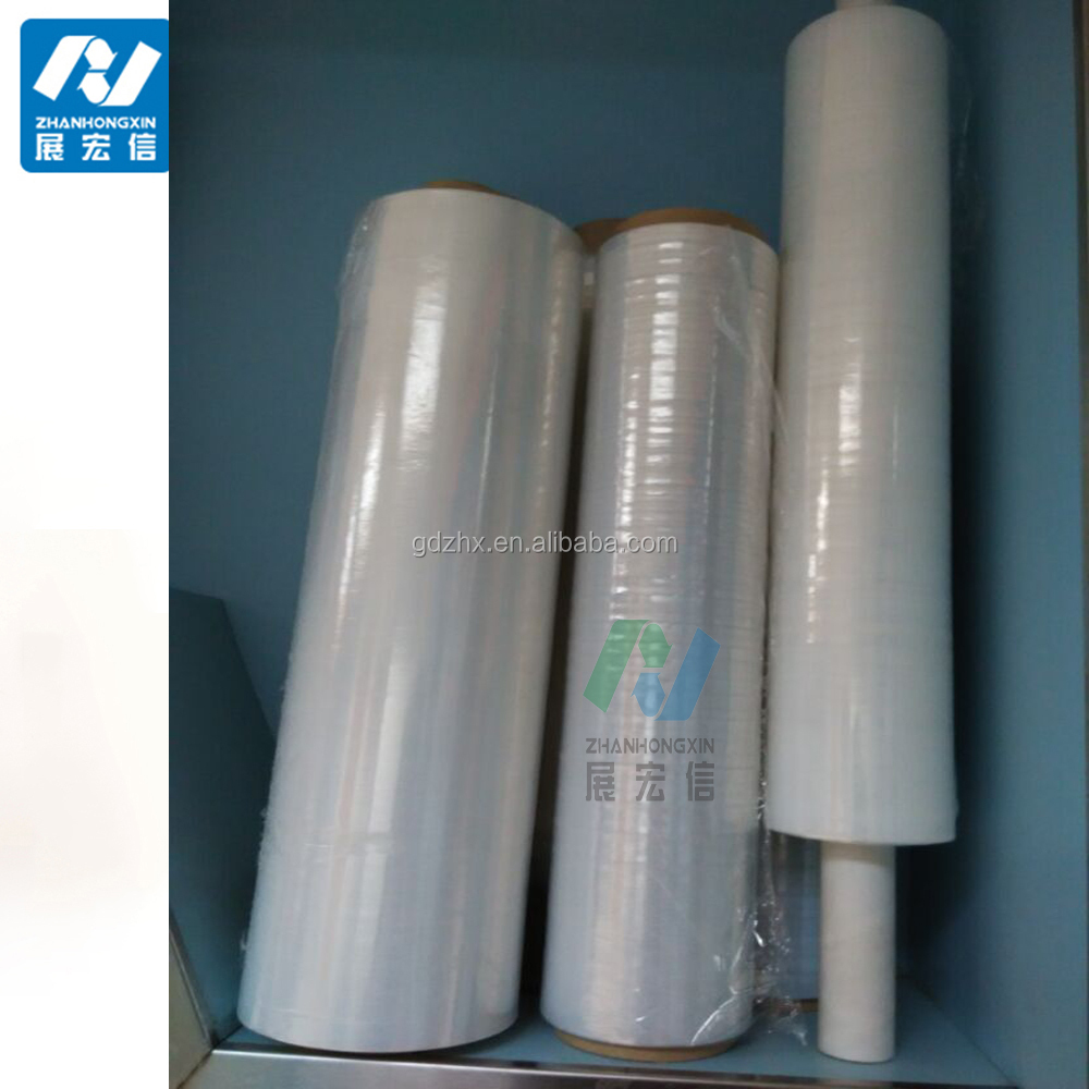 /Alibaba china packing/Golden packing of super thin stretch film for hand wrap