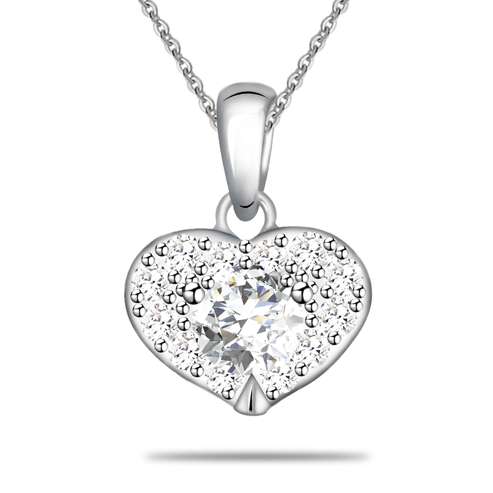 Factory Direct Sales 925 Silver Heart Pendant Necklace <strong>Jewelry</strong>