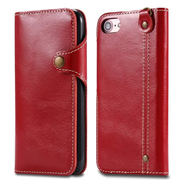 New Genuine Leather Mobile Phone Case For iPhone 7, Real Leather Flip Case For iPhone7