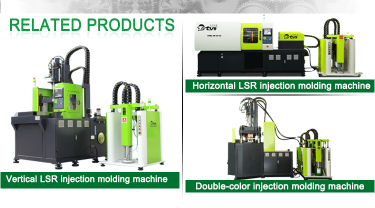 Newly optimized liquid silicone rubber injection molding machine for bb nipple and milk bottle  productionTYM5050