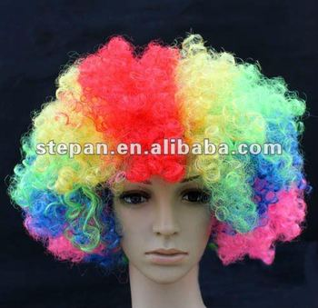 TZ-62303 Cheap Colorful Party Wigs