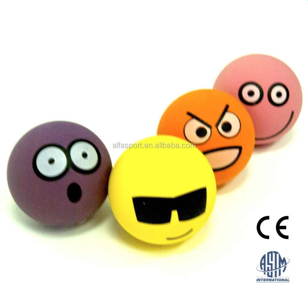 Hot Sale Rubber high bouncing, Smiley face bounce ball 2016