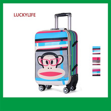 Wholesale soft material brics luggage,PU trolley case