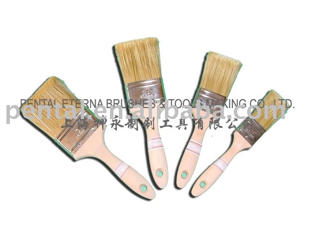 Eterna&Pental Brand Paint Brush with white bristle and wood handle