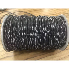 High strength sporial coiled round elastic rubber cord