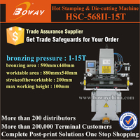 HSC-568II-15T creasing machine used for Digital Hot foil Stamping die cutting