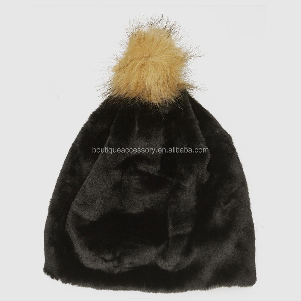 2017 Hot Furry Pompom Winter Hats