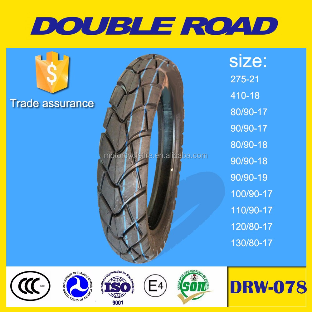 Wholesale china factory hot sale tubeless motorcycle tire 80/90-17