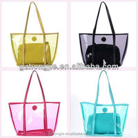 nylon canvas leather handbag hot selling woman handbag