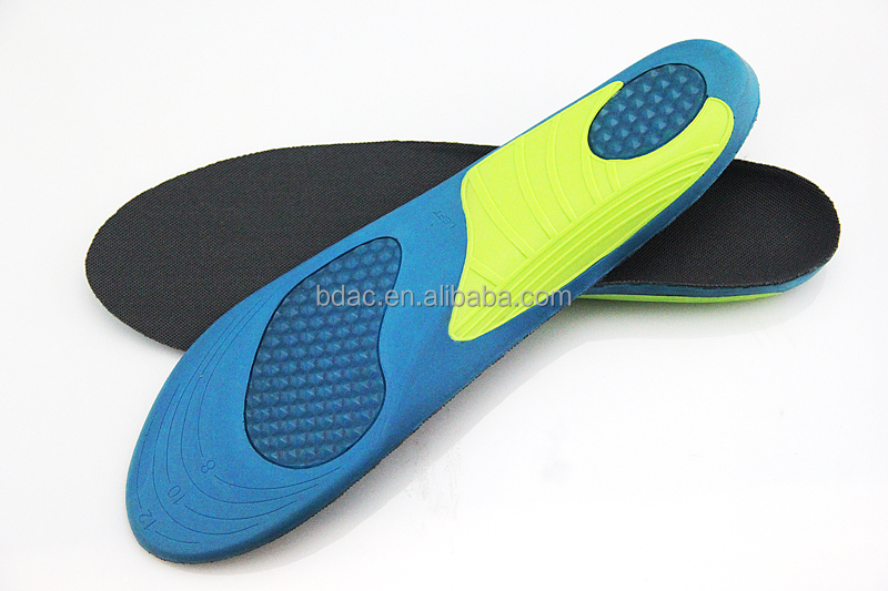 foam shock absorption TPR sheet heel cradle foot stabilizer insoles for shoes