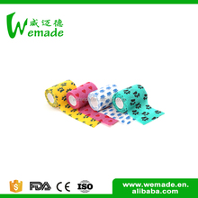 Wuxi Wemade Strong fabric pet adhesive tape bandages printed for dog
