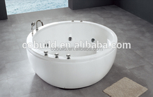 K-517 Round Freestanding Acrylic White Massage Jets Indoor Outdoor Soaking Tub Single Person hot tub prices
