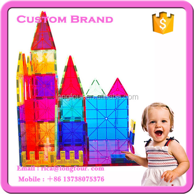 60PCS Magnetic Building Blocks magna tiles youtube for playmager OEM