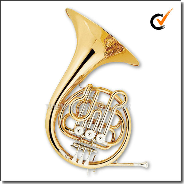 Bb 3keys Gold Lacquered Professional Student French Horn (FH7032G)