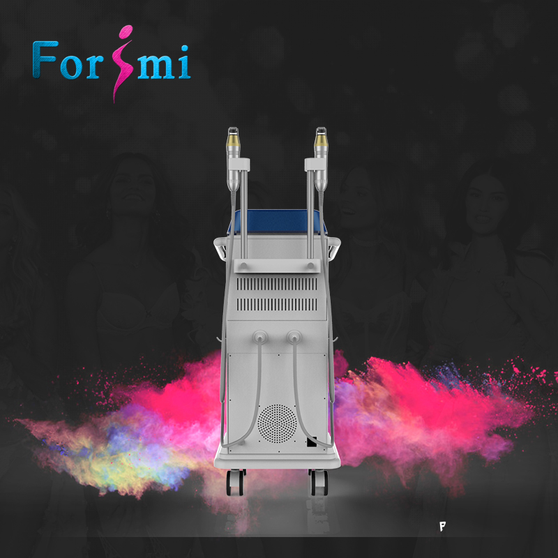 most popular 2 handles LED thermagical 5MHz micro needle rf forimi