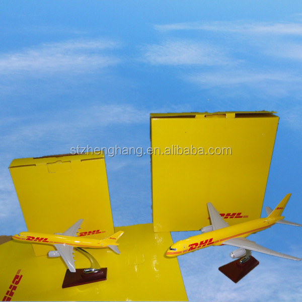 boeing 757 DHL model plane 31/47cm resin aircraft model with stand good quality