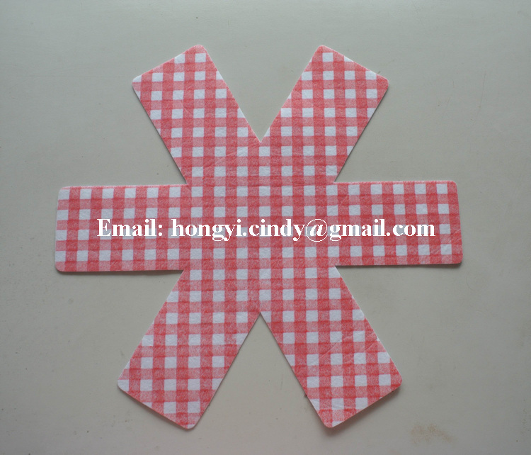 Machine washable 38cm diameter heat resistant hot pan mats, cooking mat for protecting table and pans